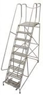 product image for Cotterman 1009R2632A6E30B4D3C1P6 - Rolling Ladder Steel 120In. H. Gray