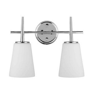 Sea Gull Lighting 4440402-05 Driscoll Two-Light Wall / Bath Vanity Style Lights, Chrome