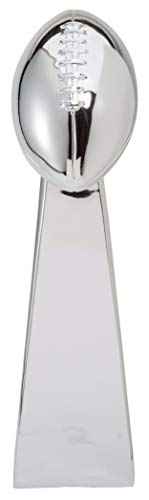 Chrome Lombardi Super Bowl Replica Trophy with 4 Lines of Custom -