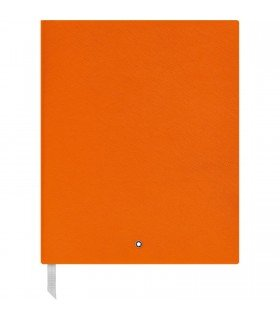 (Montblanc Sketchbook 116224 Fine Stationery #149 - Leather Notebook A4 Lined with Soft Cover - Lucky Orange - 272 Pages )