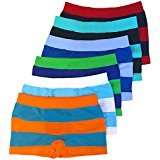 ToBeInStyle Boy's Pack of 12 Seamless Boxer Briefs Thick Stripes (Dozen Large (Ages 12-14)) ,Prepack