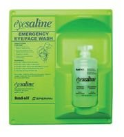 - Sperian Emergency Eyewash - Eyesaline® Wall Stations Eyesaline Single 16 Oz Wall Station - Sold as 1 Kit