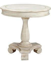 Great Signature Design By Ashley Mirimyn White Round Accent Table