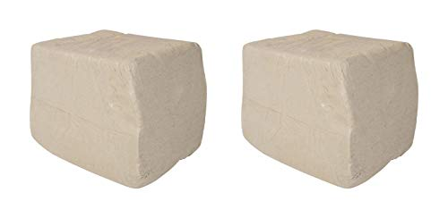 AMACO 351458 Low Fire Moist Sculpture Raku Clay, White, 27 (Pack of 2) ()