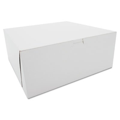Southern Champion Tray 0987 Premium Clay Coated Kraft Paperboard White Non-Window Lock Corner Bakery Box, 12'' Length x 12'' Width x 5'' Height (Case of 100) by Southern Champion Tray (Image #1)
