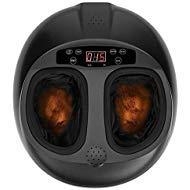Foot Massager Shiatsu Kneading Foot Massager Massage Machine with Heat for Home Black by muchoo