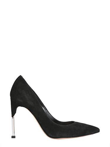(Alexander McQueen Women's 543655Whr721081 Black Leather Pumps)