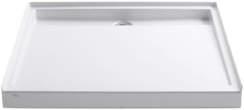 Kohler K-9998-0 Groove Shower Base, White 48' Square Shower Base