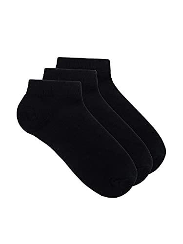 LealDealz Premium Cotton Ankle Socks for Men and Women – Black colour
