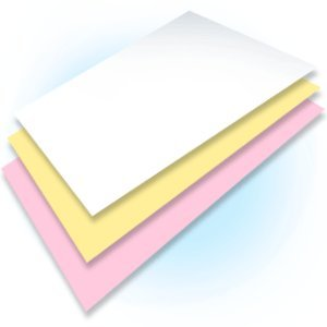 Ream of 167 Sets 3 Part Plain Collated Color Paper Quality Paper