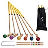 Himal Premium Wooden Six Player Croquet Set with Carrying Case (28 inch) (Croquet Game)