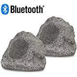 Acoustic Audio RSG6BT Powered Bluetooth Indoor or Outdoor Granite Rock Speaker Pair