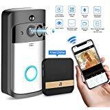 GJT Smart Video Doorbell Wireless Home WIFI Security Camera With Indoor Chime, 8G