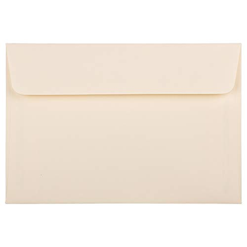 - JAM PAPER A8 Strathmore Invitation Envelopes - 5 1/2 x 8 1/8 - Ivory Wove - 25/Pack