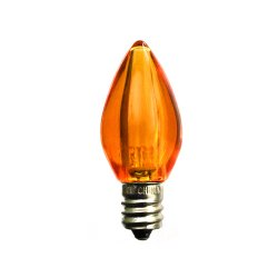 C7 Led Bulb >> Amazon Com C7 Orange Led Bulb Smooth Lens Orange Transparent C7