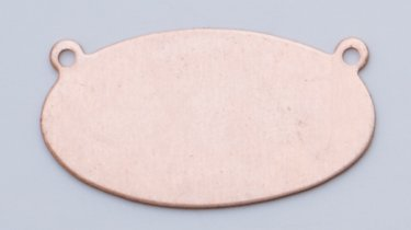 Pack of 6 1 by 1//2 Inch MET-520.55 Copper Horizontal Oval with 2 Rings 24 Gauge
