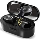 Wireless Earbuds, QQCute Bluetooth Headphones True Wireless Stereo Hands Free Call In Ear Sweatproof Sport Earphones Headset with Charging Box, Built-in Microphone