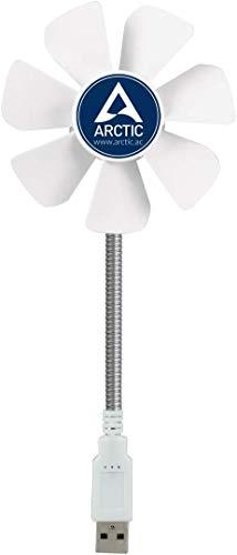 Arctic Breeze - Ventilador de escritorio USB con velocidad regulable y cuello flexible