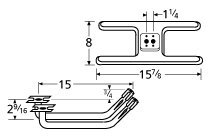 Music City Metals 10502-72902 Stainless Steel Burner Replacement for Gas Grill Models Falcon 4300 and Falcon 4400 (Falcon Grill Parts)