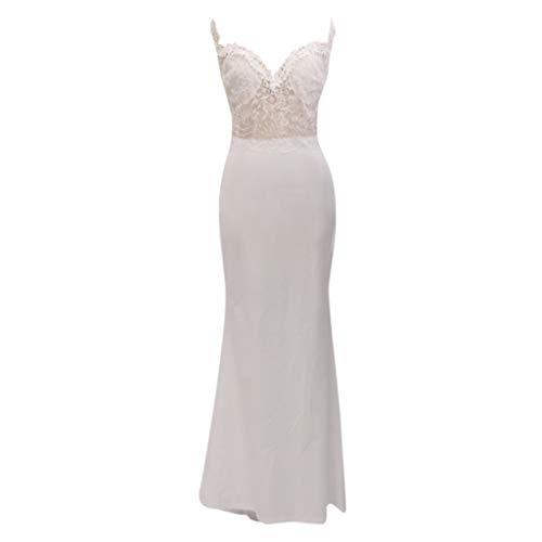 (Caopixx Dress for Women Sweetheart Straps Plus Size Wedding Dress Lace Wedding Gowns Mermaid for Bride)