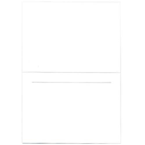 "JAM Paper Blank Foldover Cards - 3 1/2"" x 4 7/8"" - White Panel - 100/pack"