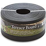 Master Mark Plastics Black Terrace Board Garden Landscape Edging Coil, 5-Inch By 40 Foot with 10-Piece Yard Landscape Stakes ()