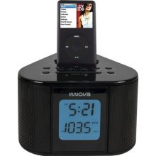 Innova Docking Alarm Clock Radio Black - Innova Vr880sa 0