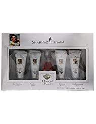 (Shahnaz Husain NEW Diamond Plus Ayurvedic Herbal Skin Care Kit with Diamond Cream, Lotion, Scrub, Mask and Free bonus Skin Tonic in LATEST International Packaging (55 g))