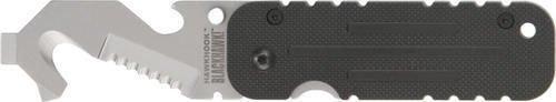 BLACKHAWK! HawkHook Silver Handle Knife - Serrated Edge