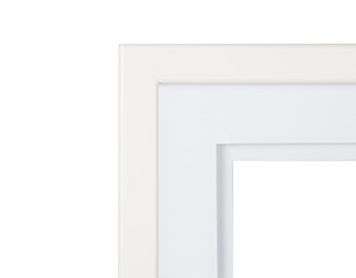 Gallery Solutions White Wood Wall Frame With White