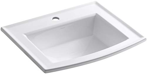 - KOHLER K-2356-1-0 Archer Self-Rimming Bathroom Sink with Single-Hole Faucet Drilling, White