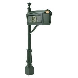 UPC 719455161791, Chalet Mailbox Set w Aluminum Post (Green)