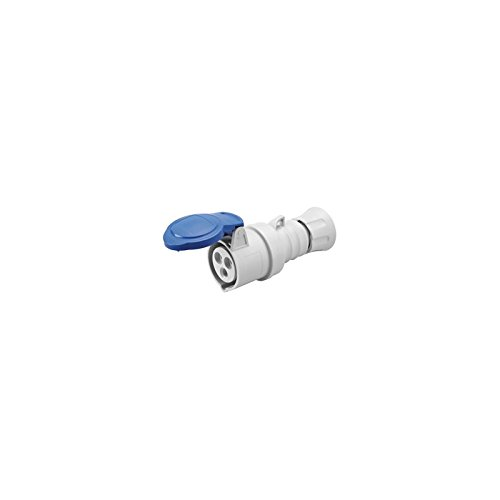 Gewiss GW62015H Low Voltage Screw Wiring Straight Connector, High Performance, IP44/IP54, 6 Reference, 2P+E Pole, 200V-250V, 32 A, 50 Hz/60 Hz, Blue Gewiss S.p.A.