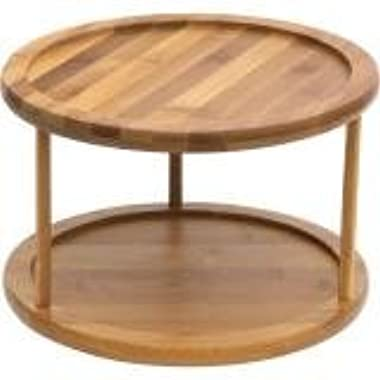 Lipper International Bamboo 2-Tier 10-Inch Turntable