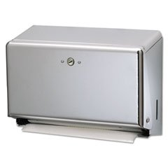 Mini Combination Hand Towel Cabinet, 11 1/8 x 3 7/8 x 7 7/8, Chrome (Combination Towel Cabinet Mini)