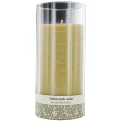 Mysteria Scented By Mysteria Scented One 7.5 Inch Glass Pillar Scented Candle. Combines Patchouli, Cedarwood, Ylang-Yl