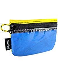Mini Zip ID Case & Coin Purse - Zipper Pouch Wallet with Clear ID Sleeve Multicolored Size: Small