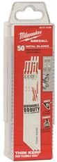 MILWAUKEE ELECTRIC 48-01-6182 THIN KERF SAWZALL BLADE, 6 IN., 14 TPI, 50 PER PACK (1 PACK)