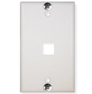 ICC-WALL PLATE- PHONE- FLUSH- 1-PORT- WHITE