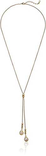 Lucky Brand Pearl Lariat Necklace, Gold, One Size