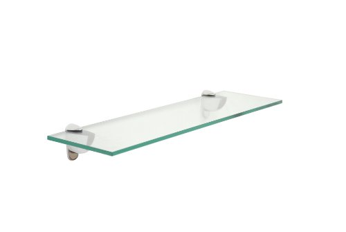 "Review 10"" X 24"" Glass Shelf - Chrome Finish By Spancraft by Spancraft"