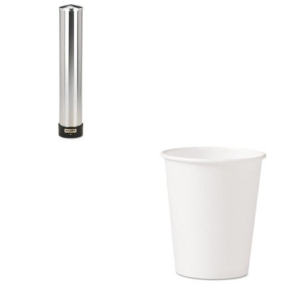 KITSJMC3400PSLO370W - Value Kit - Solo Polycoated Hot Paper Cups (SLO370W) and San Jamar Large Water Cup Dispenser w/Removable Cap (SJMC3400P) by Solo