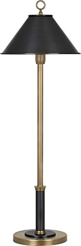 Abbey Bronze Desk Lamp - Aaron Warm Brass and Patina Bronze Buffet Table Lamp