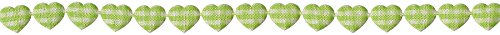 May Arts Mini Adhesive Gingham Hearts, 3/8