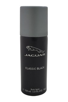 Jaguar Classic Black Body Spray for Men, 5 Ounce