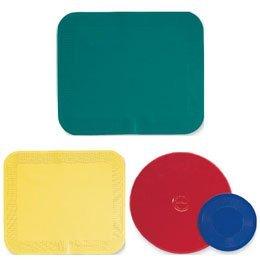 Dycem Pads Activity Pads Round, Plain Color: Red Size: 10'' dia. x 1/8'' - Model 656301