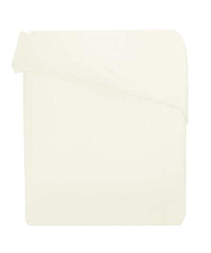 300TC Egyptian Cotton KING/CALIFORNIA KING IVORY SOLID DUVET COVER ONLY BY MARRIKAS