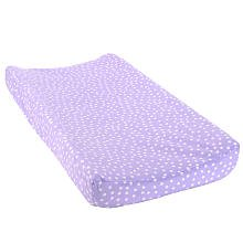 Babies'R'Us Plush Changing Pad Cover - Liliac Dot