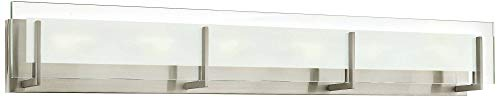 Hinkley 5656BN-LED2 from Latitude Collection Contemporary Modern Six Light Bath, Brushed Nickel (Latitude Hinkley)