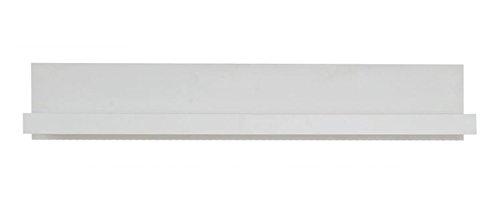 Hängeregal/Wandregal Medinaceli 04, Farbe: Weiß - 23 x 130 x 24 cm (H x B x T)